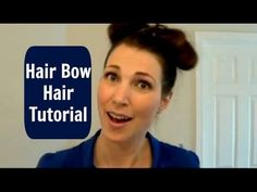 Inspired by Pinterest...is it a win or a fail? --> Hair Bow Hair Tutorial