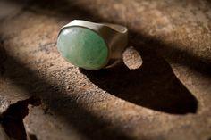 Green aventurine stone-Ring silver-Jewelry by AnnakramaJewelry