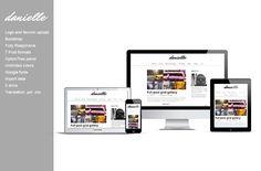 Danielle - blog wordpress theme by wpcreativos on @creativemarket