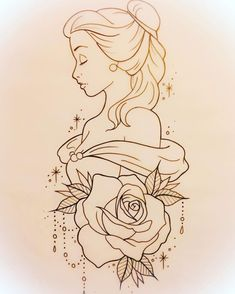 drawing drawing disney Tattoo Disney Pixar Belle 25 T Pencil Art Drawings, Art Drawings Sketches, Cartoon Drawings, Easy Drawings, Art Sketches, Tattoo Sketches, Tattoo Drawings Tumblr, Disney Pixar, Disney Art