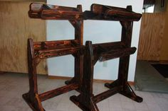 Side view, saddle stands. From Face Book Saddle Stands page.