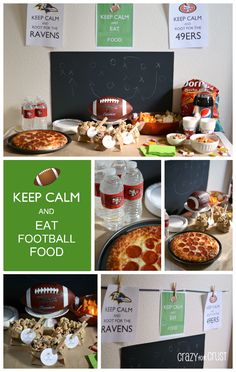 A tablescape for the Big Game by www.crazyforcrust.com | A table full of football food and fun with free printables! #Walgreens #Cbias