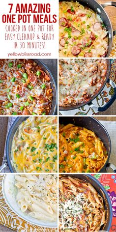 7 AMAZING One Pot Meals! So easy and ready in under 30 minutes!