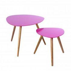Deux tables de café Miléo Rose