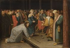 Christ and the Woman Taken in Adultery is a small panel painting in grisaille by the Netherlandish Renaissance printmaker and painter Pieter Bruegel the Elder. It is signed and dated 1565.