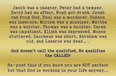 God will qualify you