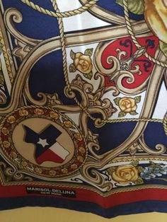 Marisol Deluna New York - Texas Pride Scarf - 100% Silk Twill