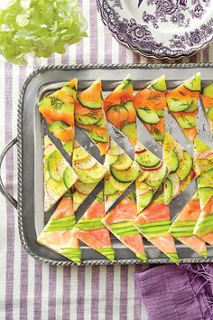 Mosaic Tea Sandwiches - The Best Recipes of 2014 - Southernliving. Recipe: Mosaic Tea Sandwiches  Make a variety of pretty mosaics by using our all-purpose cream cheese spread and layering method, and choose any seasonal toppings that fit your fancy.  Variation 1: Salmon-Cucumber Tea Sandwiches  Variation 2: Vegetable Medley Tea Sandwiches  Variation 3: Prosciutto-Asparagus Tea Sandwiches