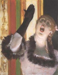 La chanteuse, par Édgar Degas