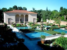 Italian villa with pools and formal gardens