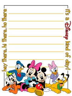 Journal Card - It's a Disney kind of day - lines - 3x4 photo dis_389_hey_there_lines.jpg