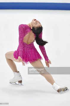 Mao Asada of Japan competes in the ladies's short program during the day one of the NHK Trophy ISU Grand Prix of Figure Skating 2015 at the Big Hat on November 27, 2015 in Nagano, Japan.