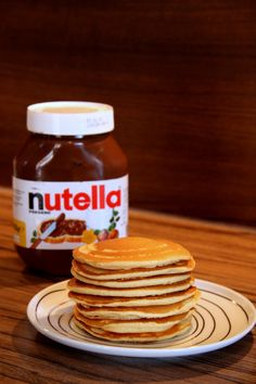 Yams, Nutella, Pancakes, Drinks, Breakfast, Food, Drinking, Morning Coffee, Beverages
