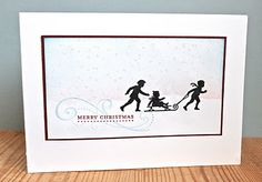 Love the subtle sponged color in Vicky's Welcome Christmas silhouette card #stamping
