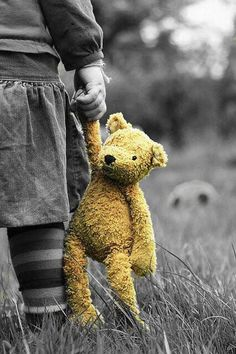 Childhood teddy! Reminds me of my brother and his Winnie the Pooh