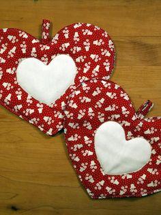 Valentine's pot holders