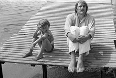 Guillaume and Gérard Depardieu, Cannes, France (1975) by Brigitte Lacombe