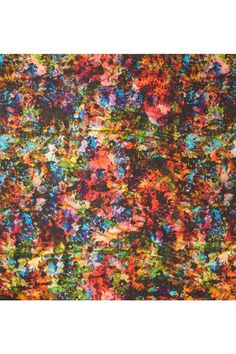 Erdem technicolor floral-print silk scarf. I'll be draping it over pared-back separates in gray and monochrome $470
