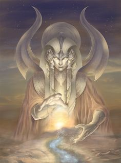 Hapi - the ancient Egyptian god of the Nile (Nile god).