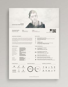 Resume / Curriculum Vitae on Behance | curriculum vitae | Pinterest / Design / Ideas / Inspiration / Beautiful / Clean / Minimalist / Gray Scale / Minimal / Effective