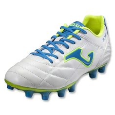 c554e782b Joma Fit 100 FG Soccer Shoes (White Vibrant Blue Fluo Yellow)