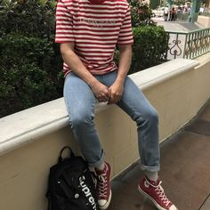 85591d629a  WDYWT  waldo lookin ass   streetwear Red Converse Outfit