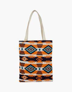 So Chic Geometric Patterns Special Woman Casual Bags vovobag  vovobag   fashion  cotton bag  casual  bag  women bag  canvas bag  colorful  unique   orange ... 253ca26396956