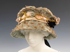 1905 Evening hat via Brooklyn Museum Costume Collection at The Metropolitan Museum of Art.