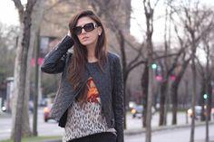 No heels - No party: Black Jeans. Basic. http://www.noheels-noparty.com/2013/04/black-jeans-basic.html #zara #mango #Purificacion #garcia #uterque #leather #jacket #chupa #tachuelas #jeans #black #punk #outfit #snake #print #green #shoes #heels #orange #street #style #fashion #blog #blogger #inspiration #sun #glasses #sunnies #prada