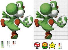 Cross-stitch Yoshi