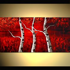 Original Abstract Landscape art on Canvas by Osnat Tzadok