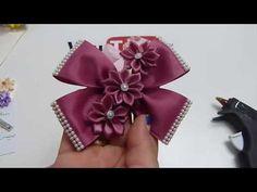 Como hacer Corbatas y Flores de Listón para el cabello paso a paso , Diy 641 - YouTube