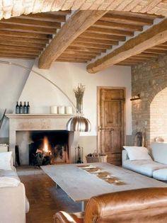Italian Farmhouse, Italian Home, French Country Living Room, Interior Decorating, Interior Design, Fireplace Design, Home Fashion, Rustic Interiors, My Dream Home