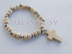 10 denarios madera souvenir comunión bautismo Rosary Catholic, Prayer Beads, First Communion, Jewelry Art, Beaded Bracelets, Baby Shower, Christian, Long Beaded Necklaces, First Holy Communion