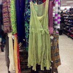 As seen at a thrift store. This dress from BCBG didn't photograph well but it has a fabulous hemline and I can't wait to wear it this summer! #thriftscoring #thriftstore #bcbg #cutedress #recycleitforward #summerdress #asseenatathriftstore #goodwill #ocgoodwill