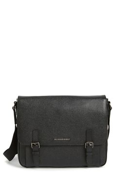 Burberry 'Ellison' Leather Messenger Bag available at #Nordstrom