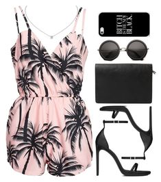 """""""I bought this play suit today """" by daisym0nste ❤ liked on Polyvore featuring NLY Trend, Violeta by Mango and Yves Saint Laurent"""