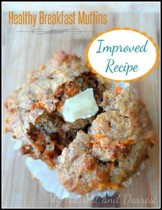 Better Than Ever Carrot Muffins. An improved recipe for our popular Banana, Carrot, and Greek Yogurt Muffins. From My Nearest and Dearest blog.