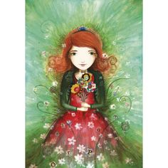 """Jehanne Weyman carte d'art  """"Le bouquet"""""""