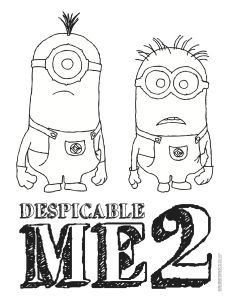 1000 images about color sheets on pinterest christmas for Despicable me 2 coloring pages