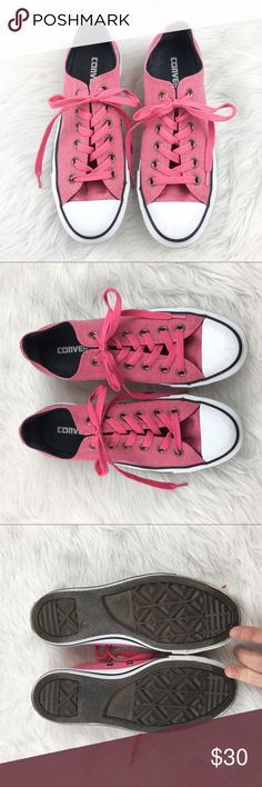 Converse Corduroy Pink All Stars Converse pink corduroy all stars. Size 7 in women's. EUC without box. Only worn only a few times. ❌No trades ❌ Modeling ❌No PayPal or off Posh transactions ❤️ I Bundles ❤️Reasonable Offers PLEASE ❤️ Bundle & SAVE❗️❗️ Converse Shoes Sneakers