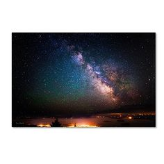 """Trademark Fine Art David Ayash """"Milky Way Over Acadia National Park- Maine"""" Canvas Art at Lowe's. This ready to hang, gallery-wrapped art piece features a landscape of the Milky Way lighting up the night sky over Acadia National Park. Canvas Wall Art, American Art, Latin American Art, Fine Art Landscape, Landscape Canvas, Landscape Prints, Canvas Art, Trademark Art, Trademark Fine Art"""