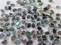 5 Pcs Labradorite Plain Oval Shape Bezel by gemsforjewels on Etsy