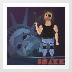 "Carpenter Series: Snake ""Escape From New York"" Art Print by Evil Ice Cream - $17.68"