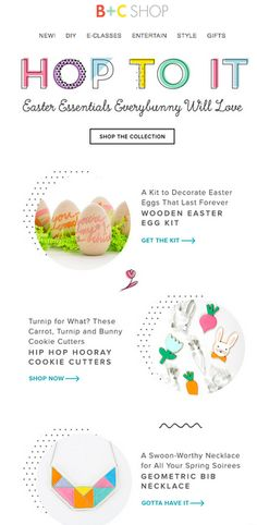 Cute Brit and Co. Email for easter!