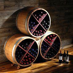 Reclaimed Half Barrel X Wine Rack (Set of 3) at Wine Enthusiast - $1,575.00
