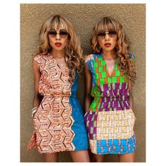 """""""#HappySunday it is indeed,Styled in new """"Saphine"""" dresses by yours truly #Dpipertwins #ootd #ankara #twinning"""""""