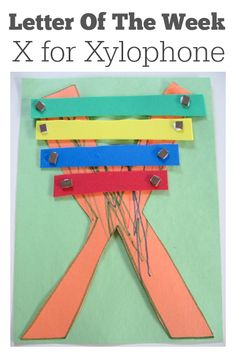 This is the cutest X craft! Great for letter of the week.