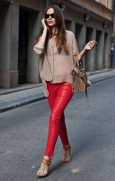I want pretty: Look- Pantalones rojos II                                                                                                                                                                                 Más