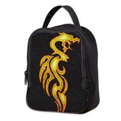 Golden dragon Neoprene Lunch Bag